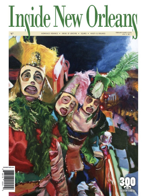 An Inside New Orleans cover, which represents the February-March 2018 feature of corporate event planner Z Event Company in Metairie, LA