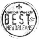 Icon representing that Z Event Company, a corporate event planner in New Orleans, LA, was included in Gambit Weekly's Best of New Orleans list.