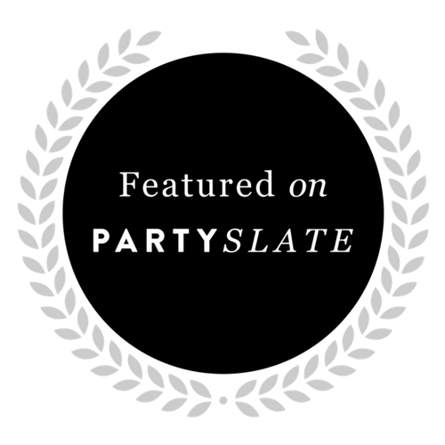 Featured on PartySlate icon representing corporate event planner Z Event Company's feature in Metairie, LA